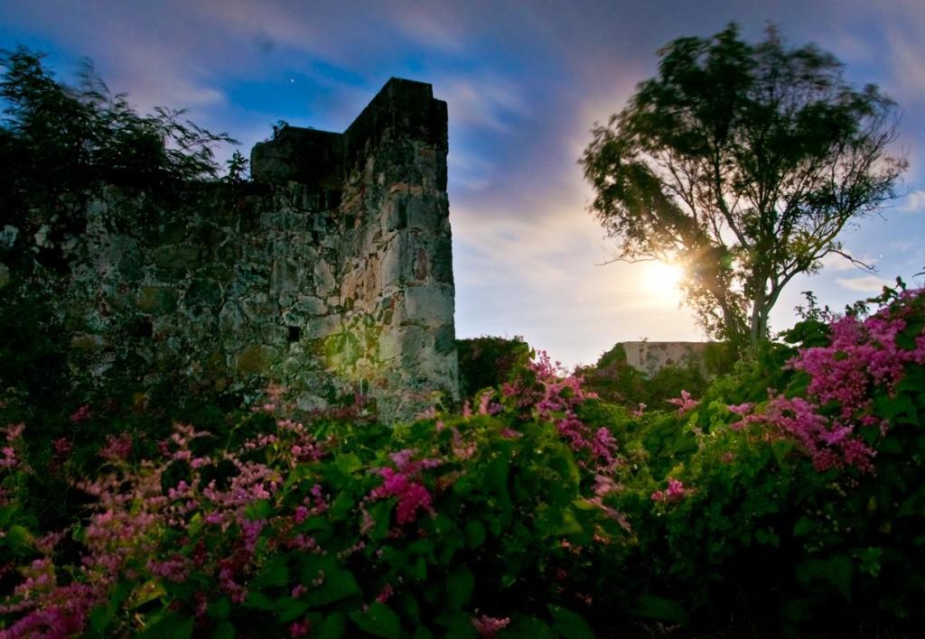 St John Ruins and the Moon