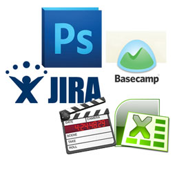 jira, photoshop, finalcut pro, fcp, after effects, final cut, basecamp, Word, Excel,
