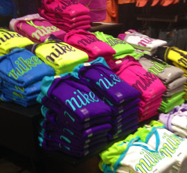 Neon sweatshirts in a Charlotte, SC mail